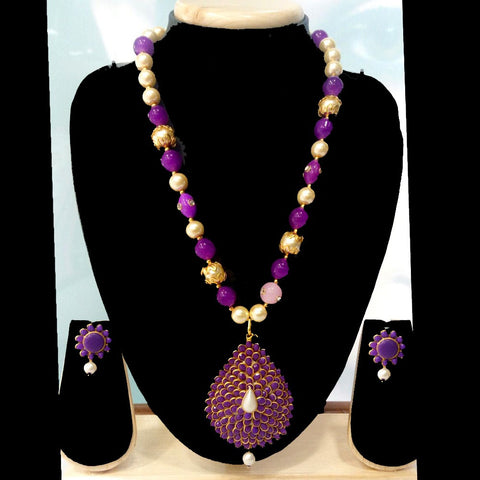 Heavy Stone Necklace with Earrings for Women - BaazKart