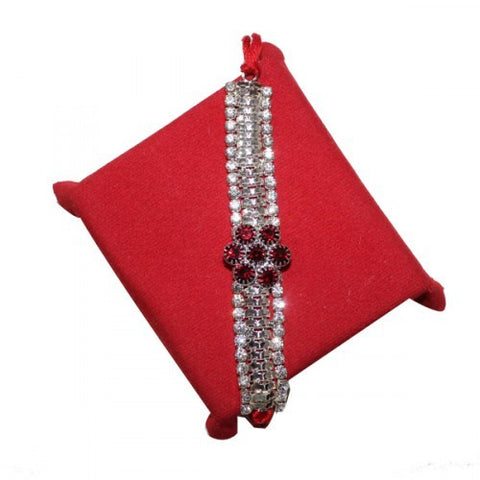 Beautiful Combination of Red and White Bracelet rakhi