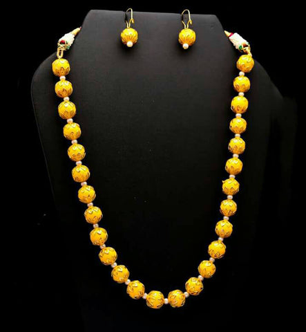 Exclusive Meenakari  Kante Necklace
