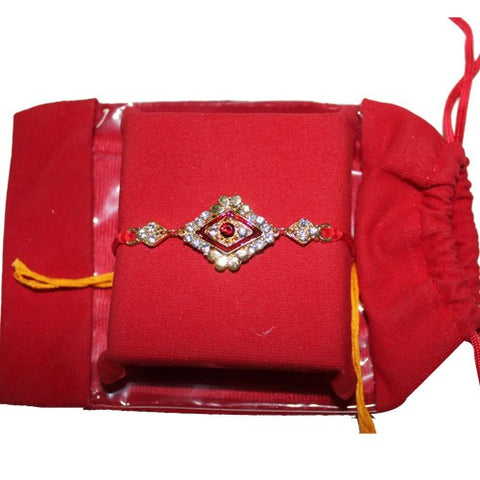 Excellence Designer Red Stone Rakhi