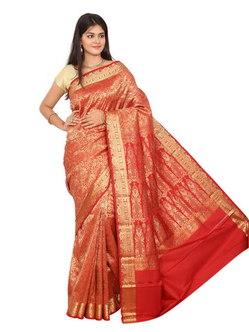 Kanchipuram Pure Silk Sarees Brocade Stone Work