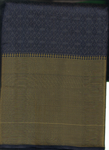 Blue and Grey Tussar Silk
