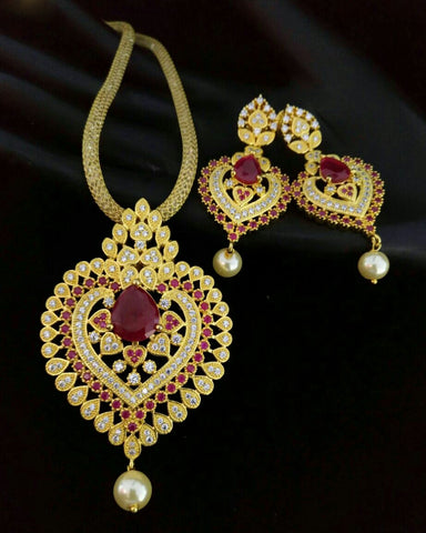 Antique Gold Plated Necklace Set