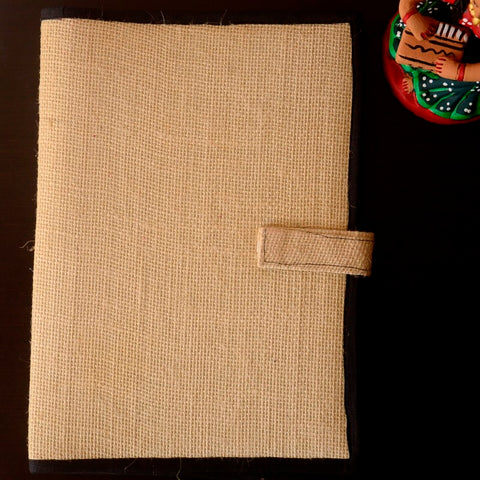 Jute Folder with Black Cotton Border