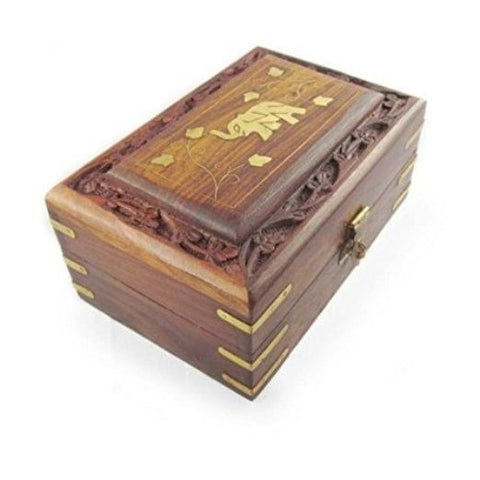 Desi Karigar  Wooden Antique Handcrafted Decorative Jewellery Storage Box