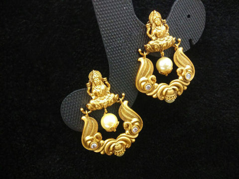 Antique Gold Plated Earrings