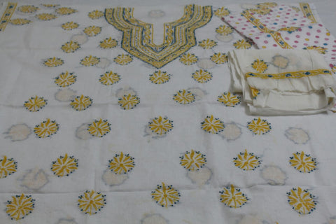 Lucknowi cotton dress material