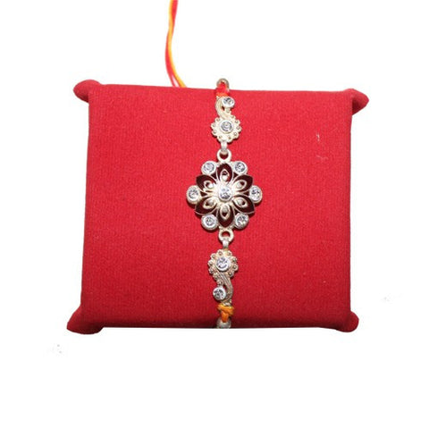 Awesome Silver Stones Rakhi