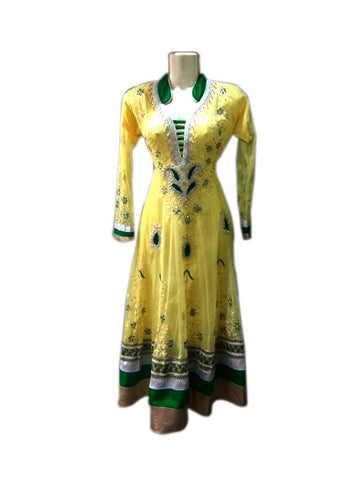 Anarkali dress- Yellow