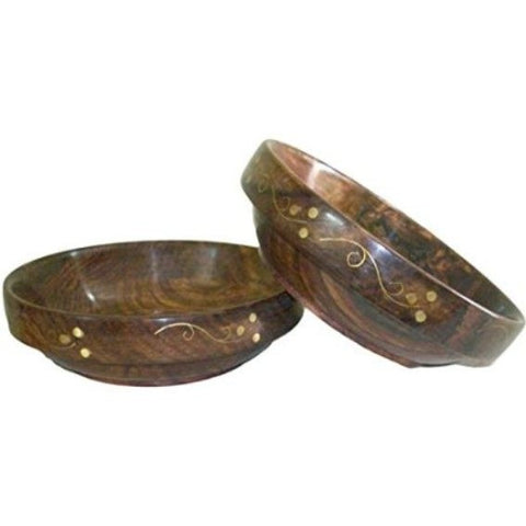Desi Karigar Wooden Bowls (Set of 2)
