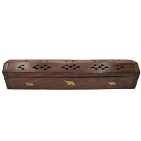 Desi Karigar Wooden, Brass Incense Holder
