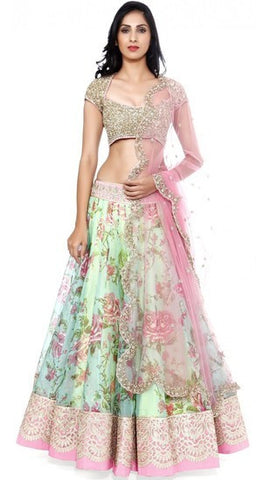 Ethnic Indian Lehenga- Beige