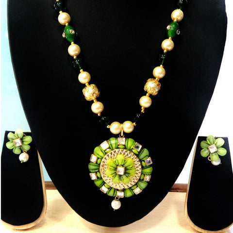 Heavy Necklace with Earrings for Women - BaazKart