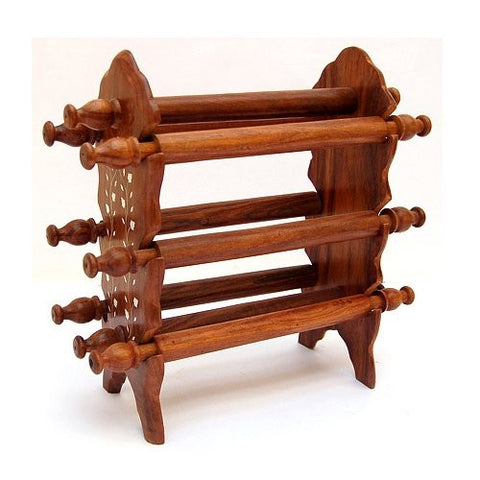 Desi Karigar Wooden Bangle Stand (Brown, 6 rod))