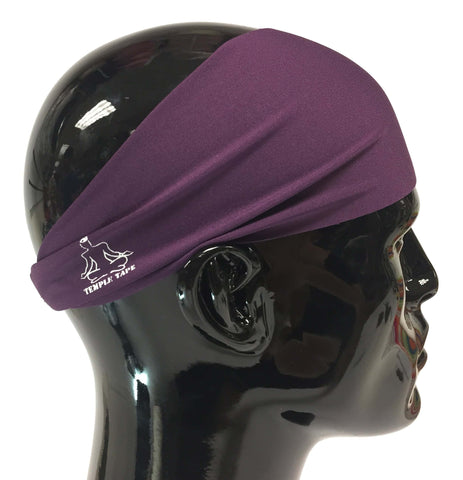 Temple Tape Classic Sweatband - Deep Purple