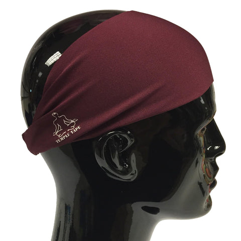 Temple Tape Classic Sweatband - Burgundy