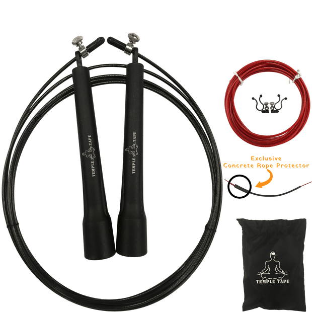 Premium Speed Jump Rope bundle - includes 2 Adjustable ropes, Carry Bag and Extra Parts 1