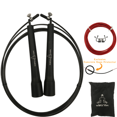 Premium Speed Jump Rope bundle - includes 2 Adjustable ropes, Carry Bag and Extra Parts