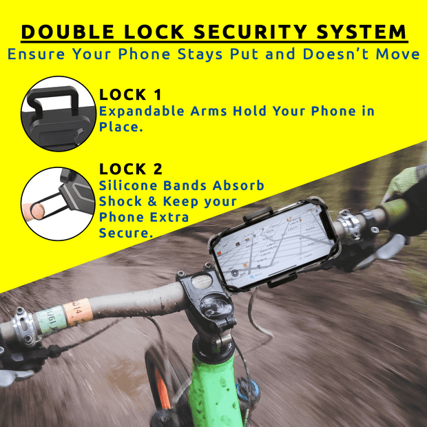 Xtreme Bike Phone Mount - Two-Step Secure-Hold System 1