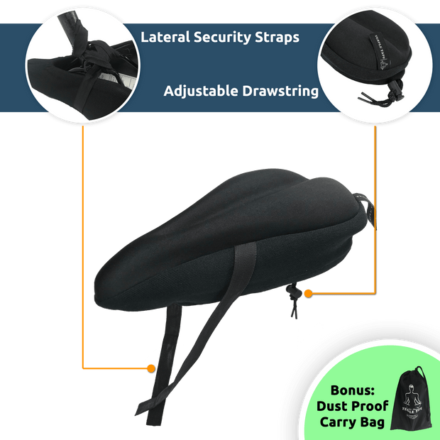 """Premium Elite Series"" Ultra Gel Bike Seat Cushion 1"