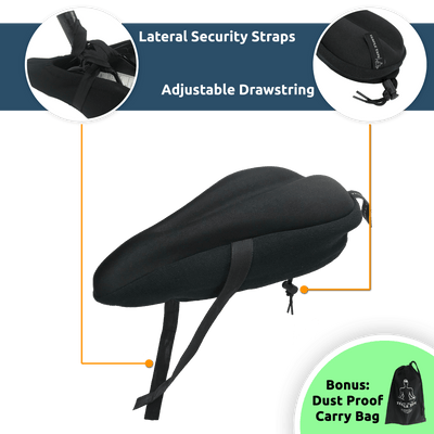 """Premium Elite Series"" Ultra Gel Bike Seat Cushion"