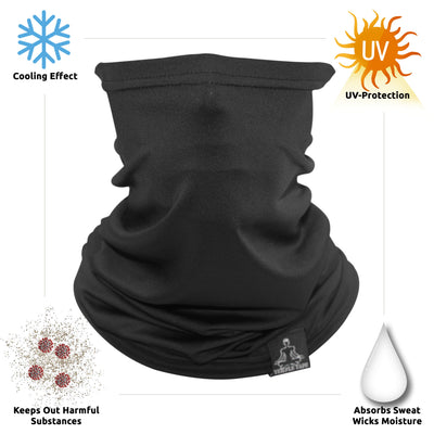 Neck Gaiter-  Lightweight Breathable Cooling Unisex, Multi-Use Face Mask; Running & UV Protection
