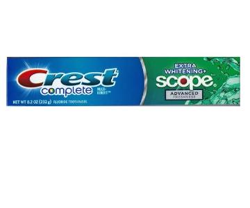 Crest Complete Extra Whitening+Scope 8.2 oz. Tube