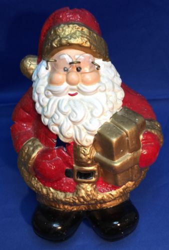 Ceramic Santa Clause Tea Light Holder