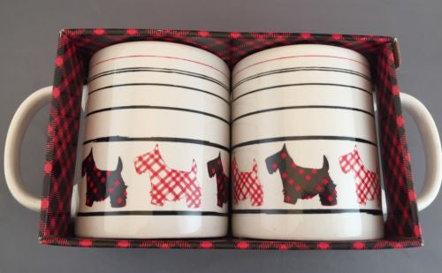Scottish Terrier Two Mug Set from the makers of Walkers Shortbread