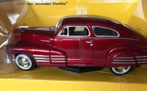 Motor Works 1948 Metallic Red Chevy Aerosedan Fleetline
