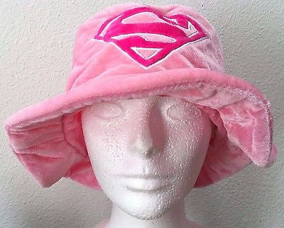Authentic Six Flags Pink Supergirl Hat