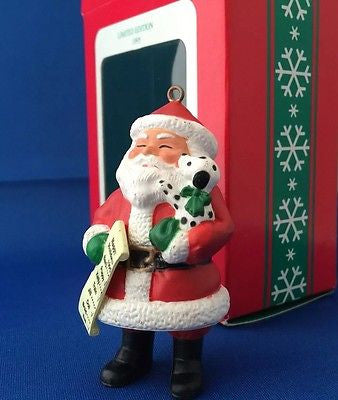 Santa's list: Limited Edition (1995) Ornament