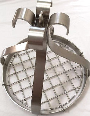 Elegant Stainless Steel Hanging Pot Rack - Dome 18""