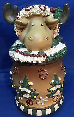 Carlton Cards Rustic Moose Christmas Candle Holder 9 1/2""