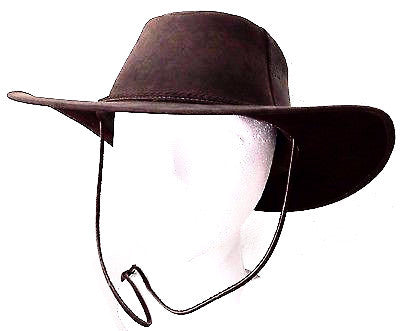 Authentic Ecuadorian Brown Leather Hat Size L