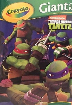 "Teenage Mutant Ninja Turtles Crayola 18 Giant Coloring Pages  12 3/4"" X 19 1/2"""
