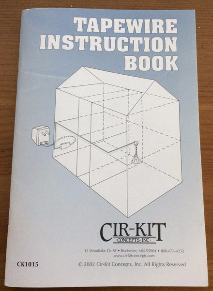 Cir-Kit Tapewire Instruction Book, Miniature House Wiring, Miniature House Electrical Instruction Book