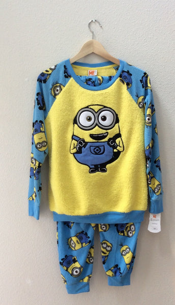 Despicable Me Sleepwear, Yellow Size Small, 2-Piece Set, Minion Made