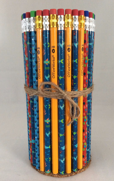 Teacher Vase, Pencil Teacher Vase, Tin Can Pencil Holder, Teacher Appreciation