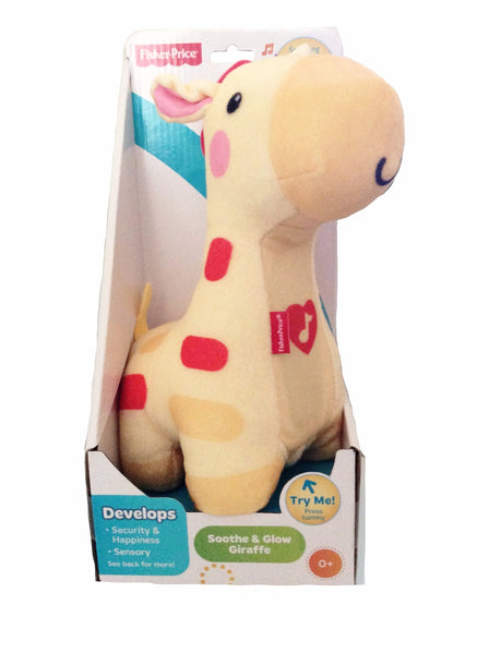 Fisher-Price Soothe & Glow Giraffe, Soothing Light & 15 Minutes of Music, 0+