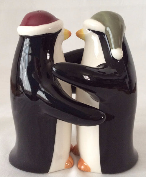 Grasslands Road Magnetic Penguin Salt & Pepper Shakers, Stoneware