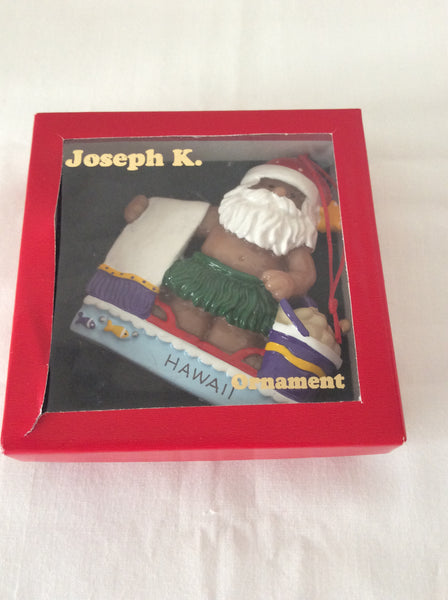 Joseph K. & Company Christmas Ornament, Santa Clause with Beach Towel & Bucket, Poi People Santa