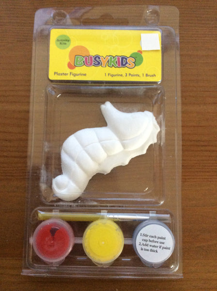 Plaster Figurine Sea Horse, Activity Kit For Kids By Busykids