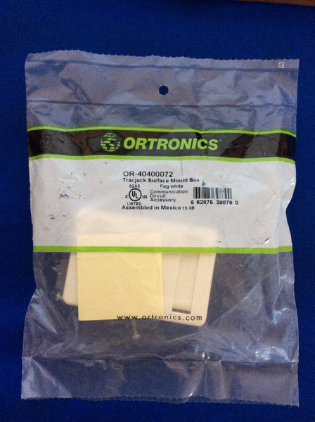 Ortronics OR-40400072 Tracjack Surface Mount Box 4-Port, Fog White
