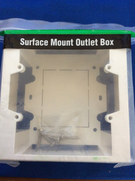 Ortronics OR-40300186, Surface Mount Outlet Box, One Piece, Fog White