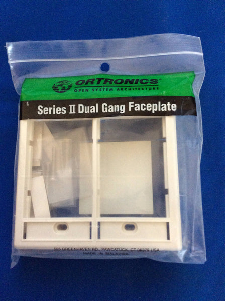 Ortronics OR-40300159 Dual Gang,  Faceplate, Fog White