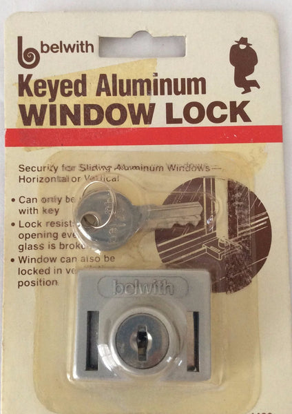 belwith Keyed Aluminum Window Lock, Sliding Aluminum Windows