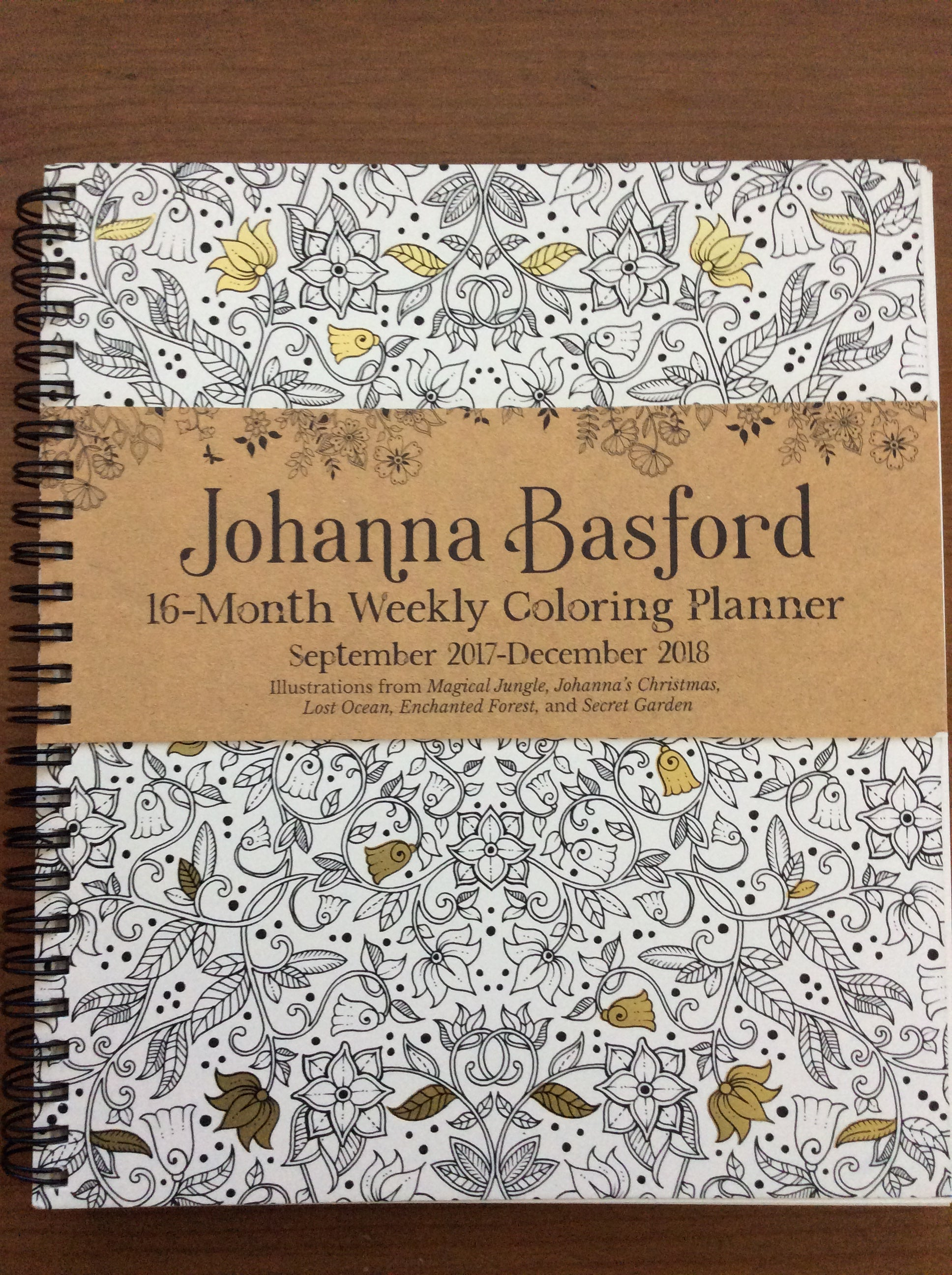 johanna basford 16 month coloring weekly planner sept 2017 dec