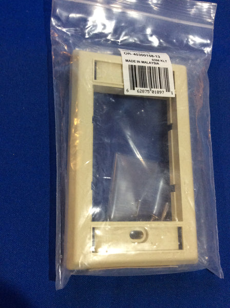 "Ortronics OR-40300158-13, Series II Faceplate, .5"" deep, Ivory"
