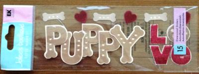 Jolee's Boutique Scrapbook Dimensional Stickers Puppy Love Stickers
